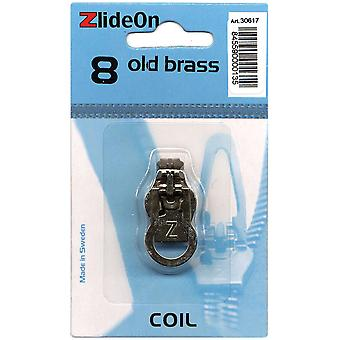 Zlideon Zipper Pull Replacements Coil 8 Old Brass 3061 7