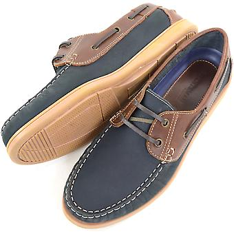 Men's Leather Casual / Formal / Holiday Slip On Boat / Deck Loafer Lace Up Shoes  - Khaki - UK 10