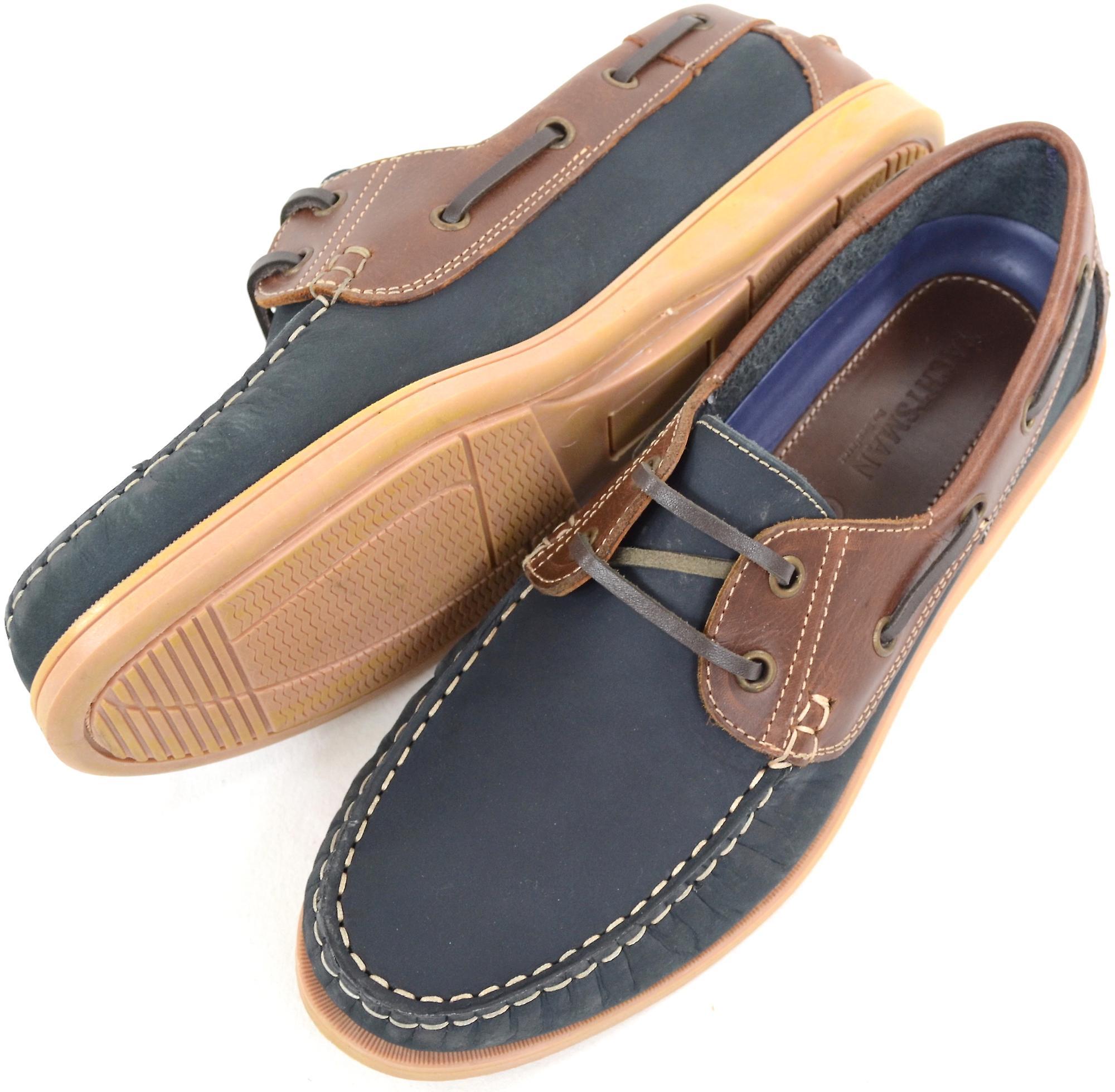 Herren Leder Casual / formale / Slip-On Boot Urlaub / Deck Loafer Lace Up Schuhe - Navy - UK 9