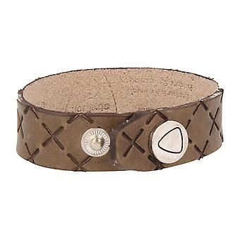 Strellson jewelry leather bracelet length 25 cm khaki
