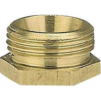 Brass Reducer nipple 47.81 mm (1 1/2) OT, 39.0 mm (1 1/4) IT