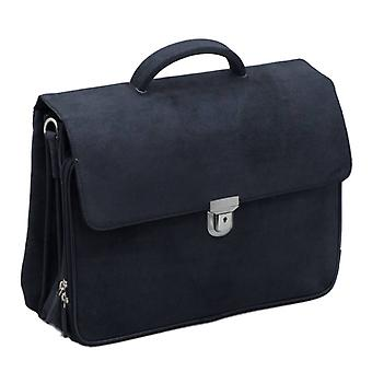 Plover leather Notebook Bag Black