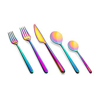Mepra Linea Rainbow 5 pcs flatware set