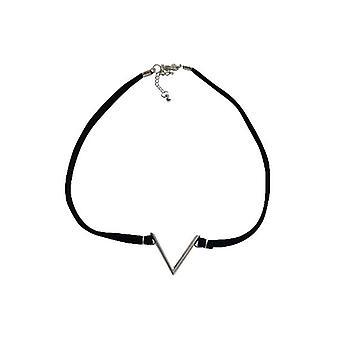 Kantigen Anweisung Choker Halskette Silber
