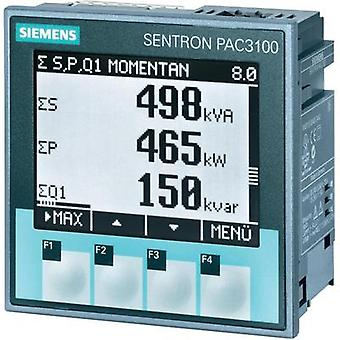Siemens SENTRON PAC3100 Multifunctional measuring apparatus SENTRON PAC3100 Max. 3 x 480/277 Vac Assembly dimensions 92