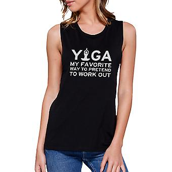 Yoga Pretend To Work Out Muscle Tee Cute Yoga Work Out Tank Top