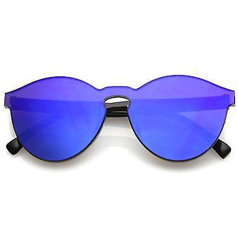 En bit PC Lens Rimless Ultra djärvt färgade spegel Mono Block solglasögon 60 mm