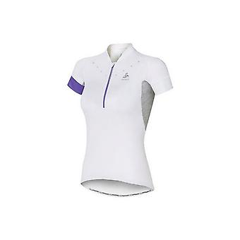Odlo stand-up col manches courtes 1/2 Zip Isola 410911-10000 Womens T-shirt