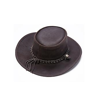 Colorado III Outback Leather Hat in Brown