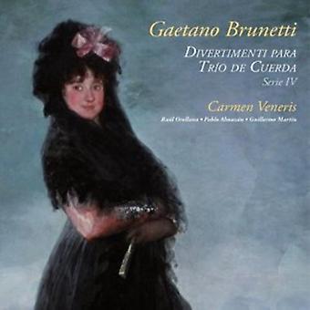 Carmen Veneris - Divertimenti for streng Trio IV [CD] USA import