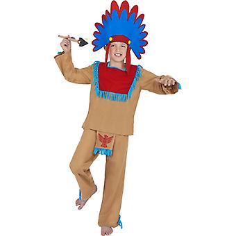 Kids Native American Indian costume red skin costume
