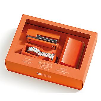 Miquelrius Set Escritorio Naranja 3 Piezas Caja 27X19 (Toys , School Zone , Accessories)