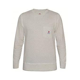 Franklin & Marshall Franklin & Marshall Mens Original Grey Long-Sleeved Round Neck Sweatshirt