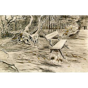 Vincent Van Gogh - The Bench, 1882 Poster Print Giclee