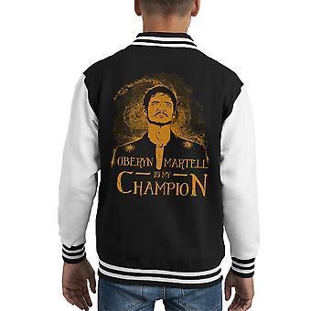 Oberyn Martell è il mio campione gioco di Varsity Jacket troni capretto