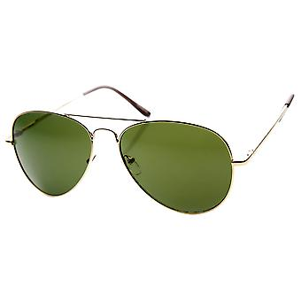 Medium Tear Drop Classic Lightweight Metal Aviator Sunglasses (56mm)