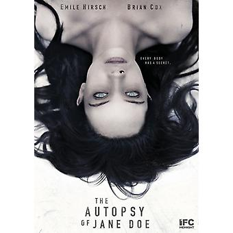 Autopsy of Jane Doe [DVD] USA import