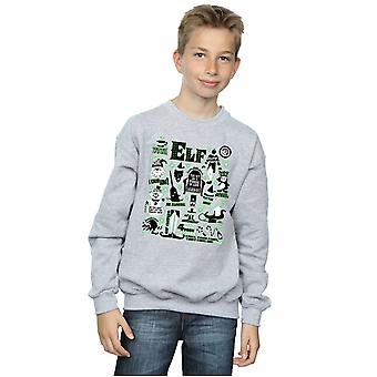 Elf Boys Infographic Poster Sweatshirt