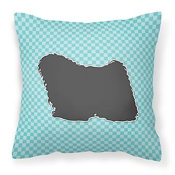 Puli Checkerboard Blue Fabric Decorative Pillow