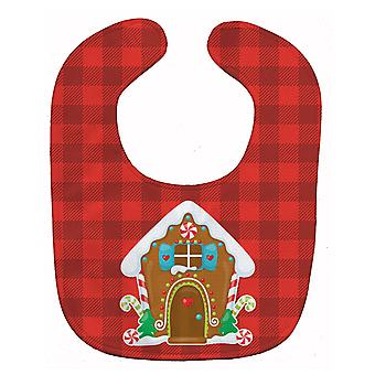 Carolines Treasures  BB8779BIB Christmas Gingerbread House Baby Bib