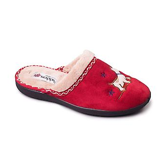 Padders Womens Slipper Scotty Red