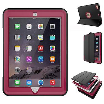 Multi-part hybrid outdoor protective cover case Pink for new Apple iPad 9.7 2017 Pocket wake UP 3folt