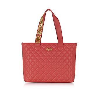 Love Moschino ladies JC4214PP04KA0500 red faux leather tote