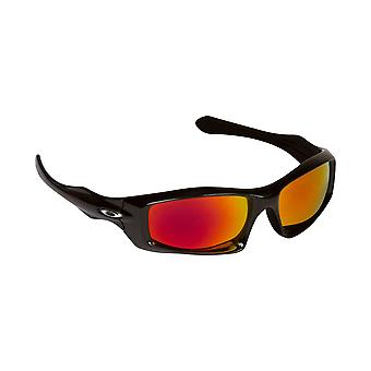 Monster Pup ersättare linser polariserade svart & Ruby Red av SEEK passar OAKLEY