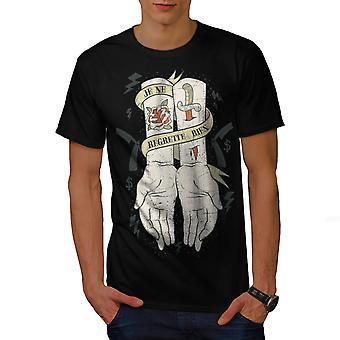 Helaas niets mode heren gekleedinzwartet-shirt | Wellcoda