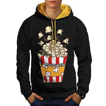 Movie Lover Men Black (Gold Hood)Contrast Hoodie | Wellcoda