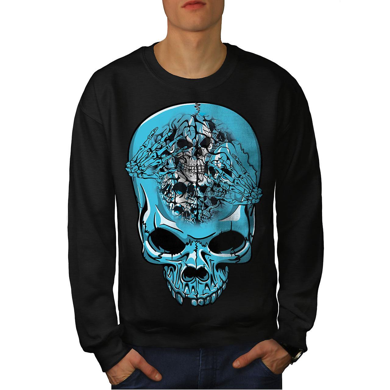 Squelette Cool Angry Men noirSweatshirt