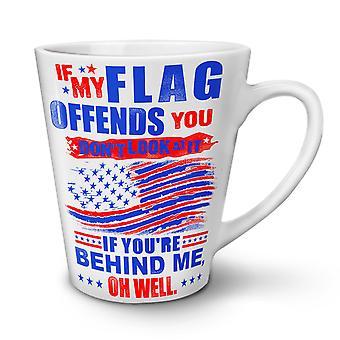 Flag America NEW White Tea Coffee Ceramic Latte Mug 17 oz   Wellcoda