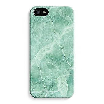iPhone 5C Full Print Case (Glossy) - Green marble