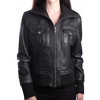 Bailey Womens Leather Bomber Jacket