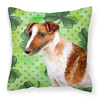 Smooth Fox Terrier St Patrick's Fabric Decorative Pillow
