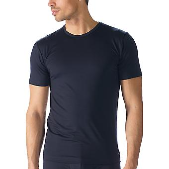 Mey 34202 Men's Network Marine Blue Cotton Short Sleeve Top