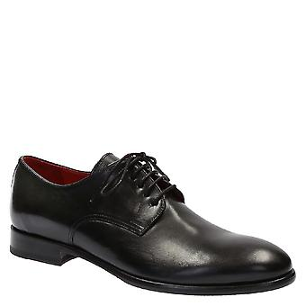 Zapatos de vestido italiano de hombres hechos a mano en cuero de becerro brillante