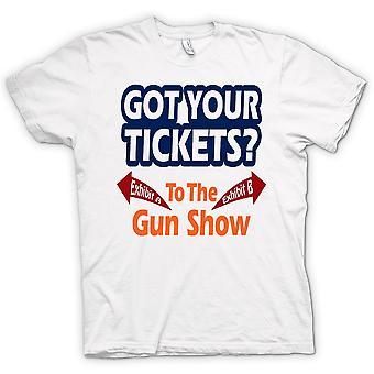 Womens T-shirt - Tickets For Gun Show - Funny