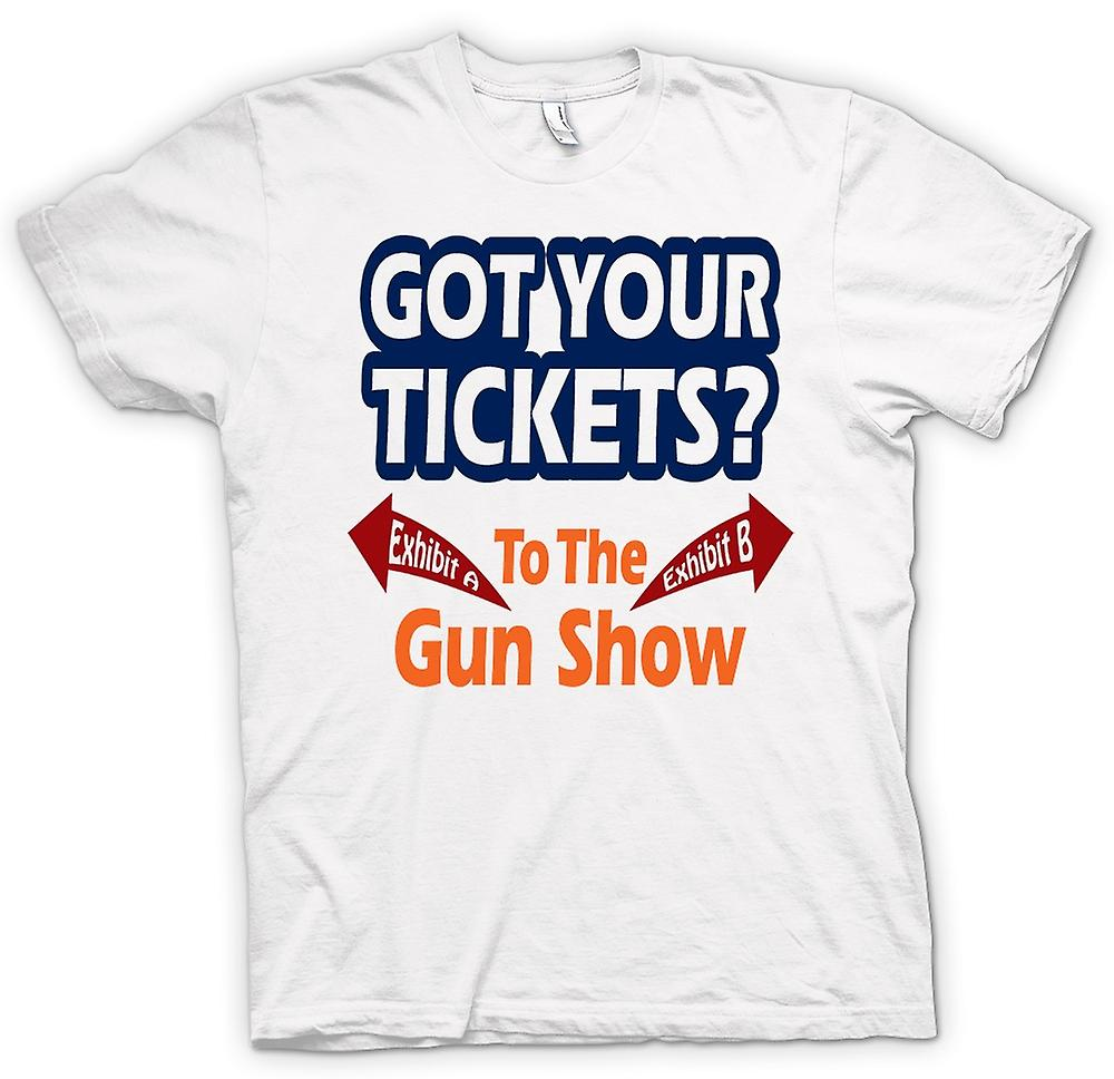 Mens T-shirt - Tickets For Gun Show - Funny