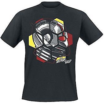 Ant-Man og Wasp hoved T-Shirt sort lille (TS777205ANW-S)