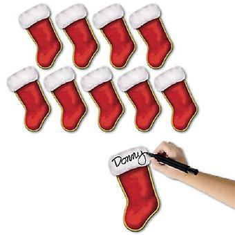 Mini Christmas Stocking Pappfiguren 7¼