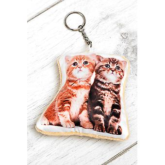 Adorable Kittens Shaped Keyring