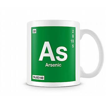 Element Symbol 033 As - Arsenic Printed Mug