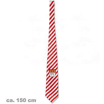 Галстук Кельн герб города Кельн 150 см аксессуар Джек полосатый красный и белый