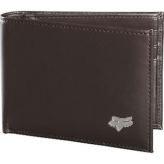Fox Bi-Fold Leather Wallet - Brown