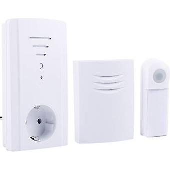 Byron B432E Wireless door bell Complete set backlit, incl. nameplate