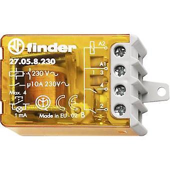 Finder 27.05.8.230.0000 10A Step Relay 230 V AC 2 Closers 10 A Max 230 V AC (AC1) Max 2300 VA/(AC15 V) Max 500 VA