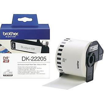 Brother DK-22205 Label roll 62 mm x 30.48 m Paper White 1 Rolls Permanent DK22205 All-purpose labels
