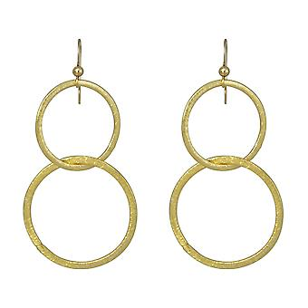 Gemshine - ladies - earrings - earrings - gold plated - circle 5 cm geometric - minimalist --design - Scandi