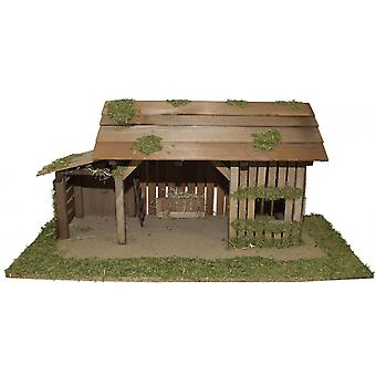 Crib Nativity stable wood crib GENESIS manual work for characters up to 11 cm